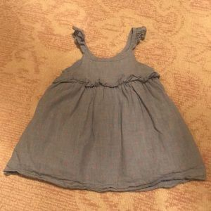 Baby GAP Girl's Blue Dress with pink dots. 12-18 M
